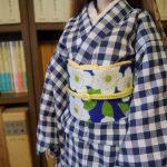 正絹の帯揚げを作ります。